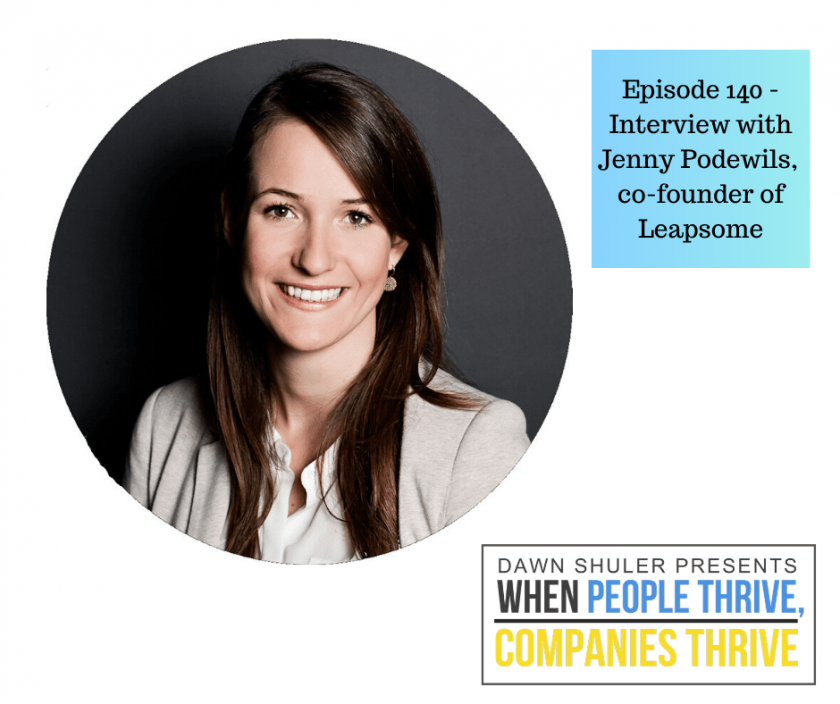 Episode 140 – Interview with Jenny Podewils, co-founder of Leapsome