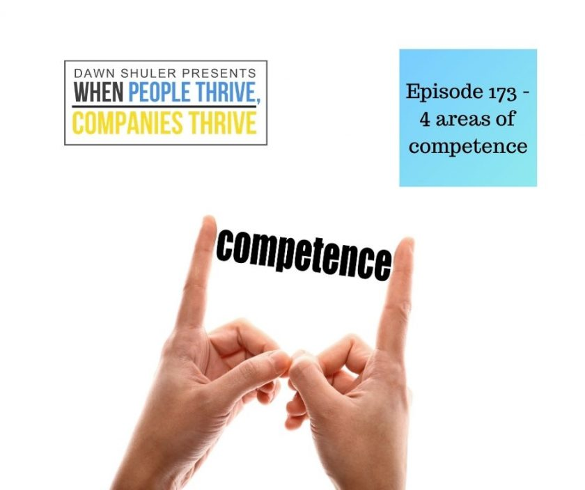 Episode 173 – 4 areas of competence